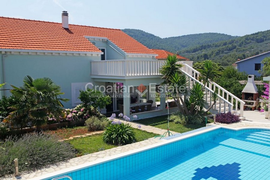 Island Korcula, villa with pool for sale