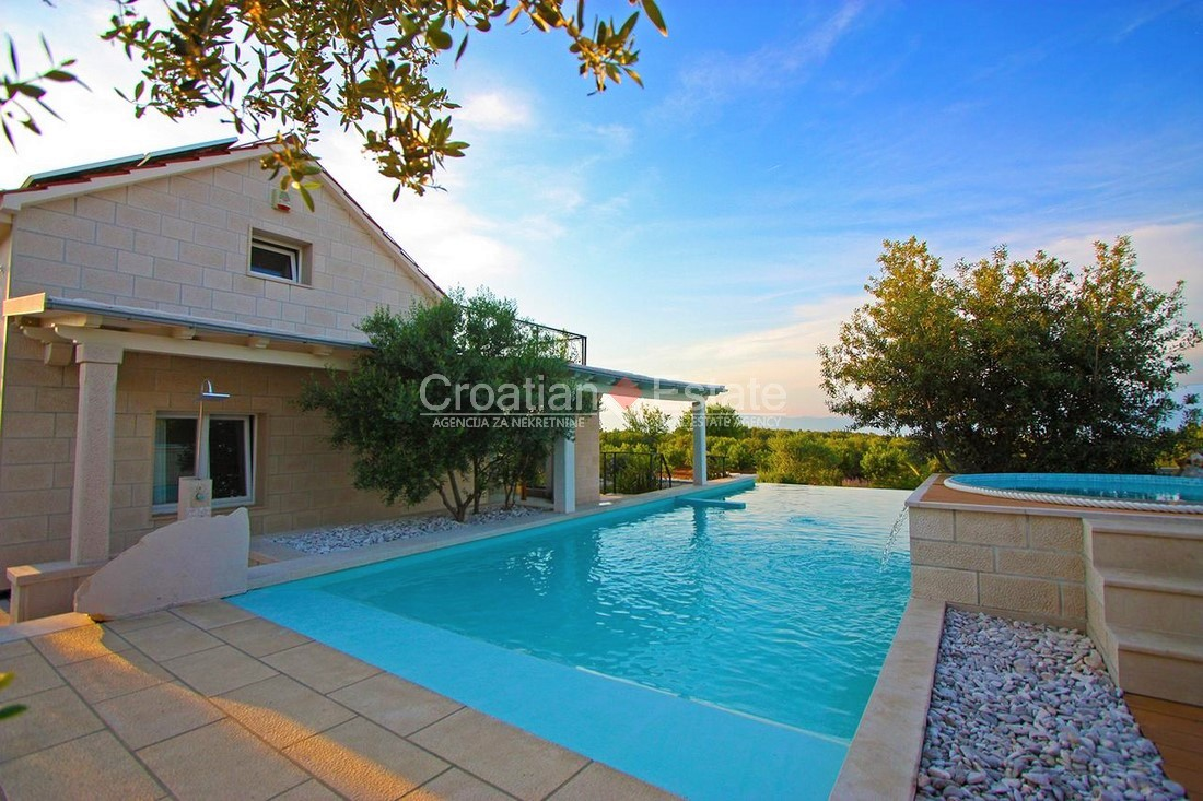 Island Brač, luxury modern villa with pool for sale