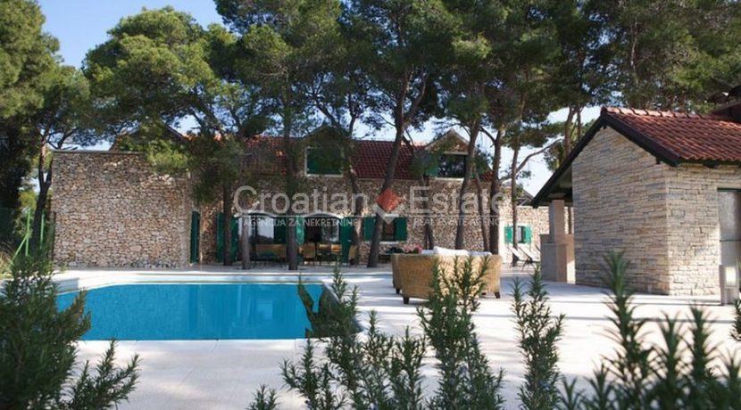villa with big plot tennis pool privacy brac croatia (1)
