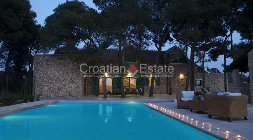 villa with big plot tennis pool privacy brac croatia (8)