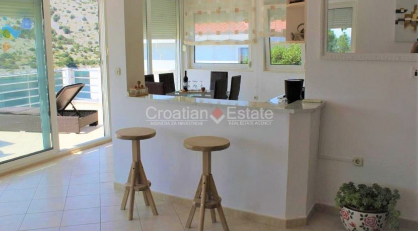 trogir marina seafront villa house for sale pool view (8)