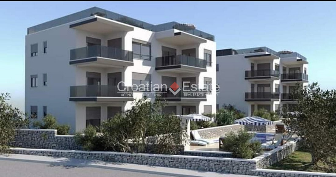 Island Čiovo – new apartment with sea view and common pool for sale