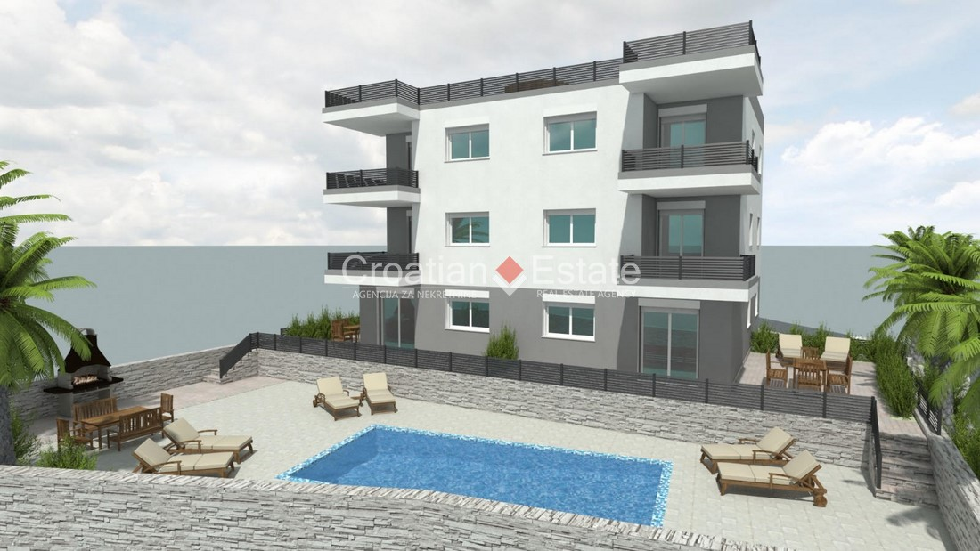 Island Čiovo – two bedroom apartment with roof terrace for sale