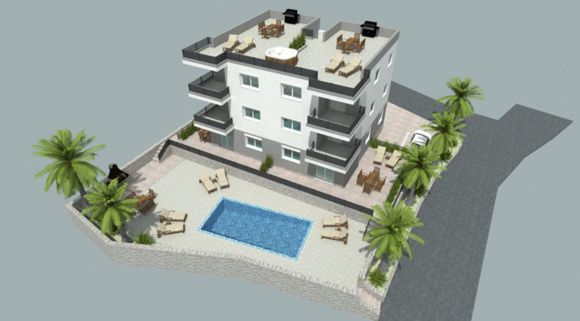 Ciovo two bedroom apartment common pool for sale 12